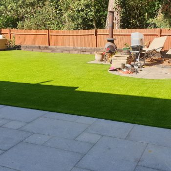Home View Landscapes - turf finished 2