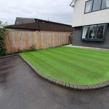 Home View Landscapes - Stripe lawn after 2