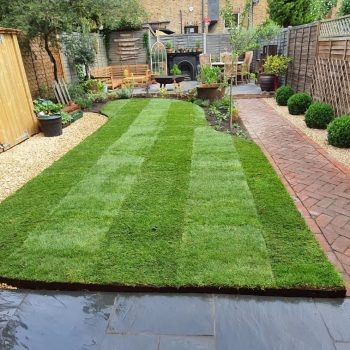Homepage Shaped Garden Lawn