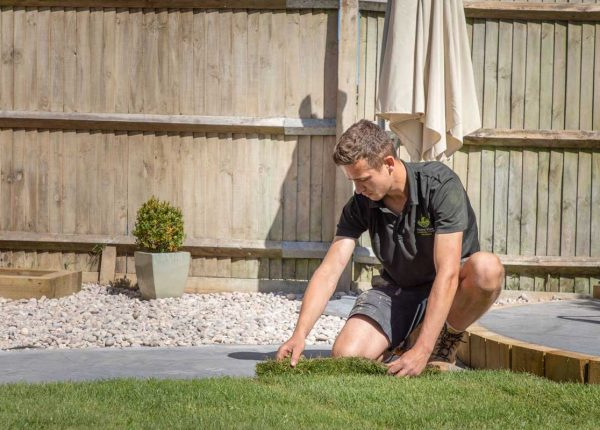 Home View Landscapes - laying turf